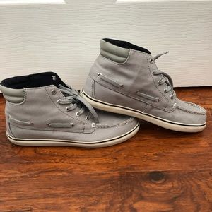 Sperry Canvas High-top Boat Shoes